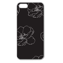 Rose Wild Seamless Pattern Flower Apple Seamless Iphone 5 Case (clear) by Nexatart