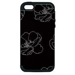 Rose Wild Seamless Pattern Flower Apple Iphone 5 Hardshell Case (pc+silicone) by Nexatart