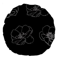 Rose Wild Seamless Pattern Flower Large 18  Premium Round Cushions by Nexatart