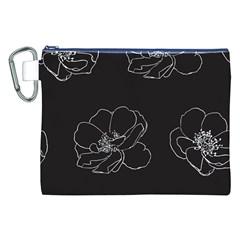 Rose Wild Seamless Pattern Flower Canvas Cosmetic Bag (xxl) by Nexatart