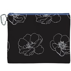 Rose Wild Seamless Pattern Flower Canvas Cosmetic Bag (XXXL) by Nexatart