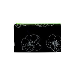 Rose Wild Seamless Pattern Flower Cosmetic Bag (xs)
