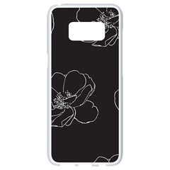 Rose Wild Seamless Pattern Flower Samsung Galaxy S8 White Seamless Case