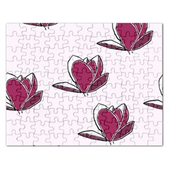Magnolia Seamless Pattern Flower Rectangular Jigsaw Puzzl by Nexatart