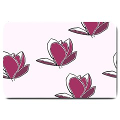 Magnolia Seamless Pattern Flower Large Doormat