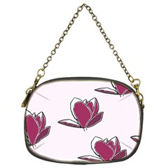 Magnolia Seamless Pattern Flower Chain Purses (two Sides)  by Nexatart