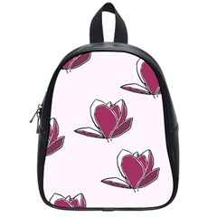 Magnolia Seamless Pattern Flower School Bags (small)  by Nexatart