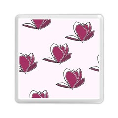 Magnolia Seamless Pattern Flower Memory Card Reader (square)  by Nexatart