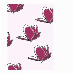 Magnolia Seamless Pattern Flower Small Garden Flag (two Sides) by Nexatart