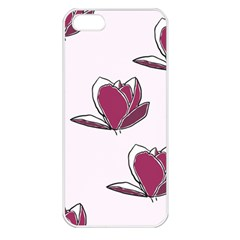 Magnolia Seamless Pattern Flower Apple Iphone 5 Seamless Case (white) by Nexatart