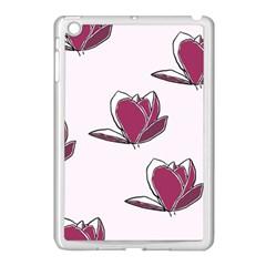 Magnolia Seamless Pattern Flower Apple Ipad Mini Case (white) by Nexatart