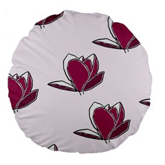 Magnolia Seamless Pattern Flower Large 18  Premium Round Cushions by Nexatart