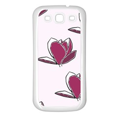 Magnolia Seamless Pattern Flower Samsung Galaxy S3 Back Case (white)