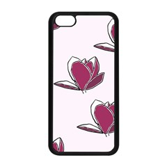Magnolia Seamless Pattern Flower Apple Iphone 5c Seamless Case (black) by Nexatart