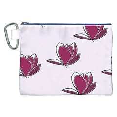 Magnolia Seamless Pattern Flower Canvas Cosmetic Bag (xxl)