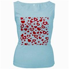Cards Ornament Design Element Gala Women s Baby Blue Tank Top