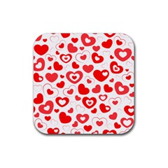 Cards Ornament Design Element Gala Rubber Coaster (square)