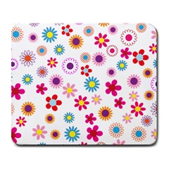 Floral Flowers Background Pattern Large Mousepads