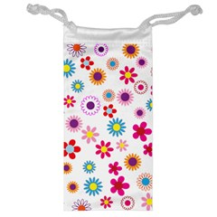 Floral Flowers Background Pattern Jewelry Bag