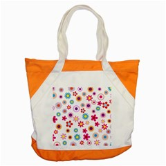 Floral Flowers Background Pattern Accent Tote Bag by Nexatart