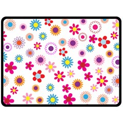 Floral Flowers Background Pattern Fleece Blanket (large)