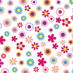 Floral Flowers Background Pattern Magic Photo Cubes