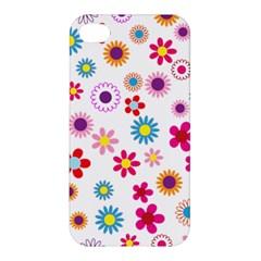 Floral Flowers Background Pattern Apple Iphone 4/4s Premium Hardshell Case by Nexatart