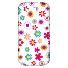 Floral Flowers Background Pattern Samsung Galaxy S3 S Iii Classic Hardshell Back Case by Nexatart