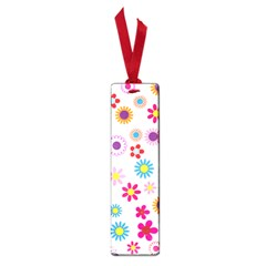 Floral Flowers Background Pattern Small Book Marks
