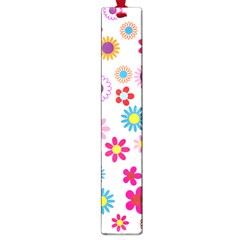 Floral Flowers Background Pattern Large Book Marks
