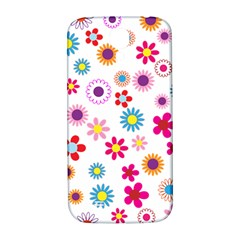 Floral Flowers Background Pattern Samsung Galaxy S4 I9500/i9505  Hardshell Back Case