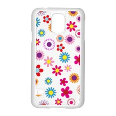 Floral Flowers Background Pattern Samsung Galaxy S5 Case (white)