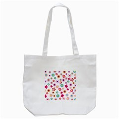 Floral Flowers Background Pattern Tote Bag (white)