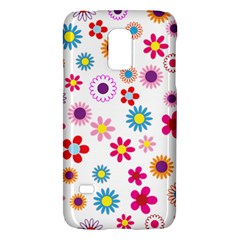 Floral Flowers Background Pattern Galaxy S5 Mini