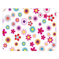 Floral Flowers Background Pattern Double Sided Flano Blanket (large)