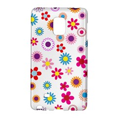 Floral Flowers Background Pattern Galaxy Note Edge by Nexatart