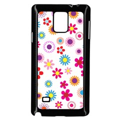 Floral Flowers Background Pattern Samsung Galaxy Note 4 Case (black)