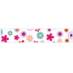 Floral Flowers Background Pattern Flano Scarf (large)