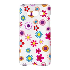 Floral Flowers Background Pattern Samsung Galaxy A5 Hardshell Case  by Nexatart