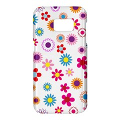 Floral Flowers Background Pattern Samsung Galaxy S7 Hardshell Case