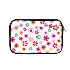 Floral Flowers Background Pattern Apple Macbook Pro 13  Zipper Case by Nexatart