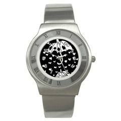 Mandala Calming Coloring Page Stainless Steel Watch