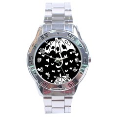 Mandala Calming Coloring Page Stainless Steel Analogue Watch by Nexatart
