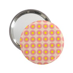 Pattern Flower Background Wallpaper 2 25  Handbag Mirrors