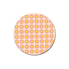 Pattern Flower Background Wallpaper Magnet 3  (round)