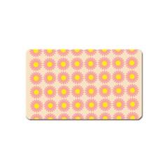 Pattern Flower Background Wallpaper Magnet (name Card)
