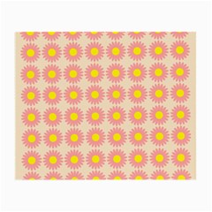 Pattern Flower Background Wallpaper Small Glasses Cloth