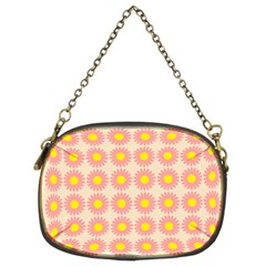 Pattern Flower Background Wallpaper Chain Purses (two Sides)