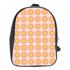 Pattern Flower Background Wallpaper School Bags(large)  by Nexatart