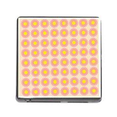 Pattern Flower Background Wallpaper Memory Card Reader (square)